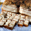 Stock Photo: Cold-smoked pork fat