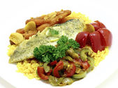 Fried fillet of pike — Stock Photo