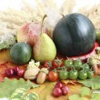 Stock Photo: Healthy organic vegetables and fruits