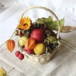 Stock Photo: Basket with autumn goodies