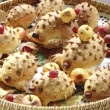 Cookies hedgehogs — Stock Photo