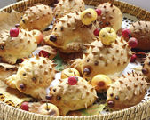 Cookies hedgehogs — Stockfoto