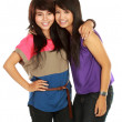 Two girls smiling — Stock Photo #10958250