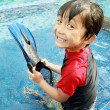 Kid having fun in the pool — Stock Photo #12022156