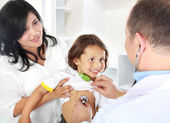 Doctor with kid — Stock Photo