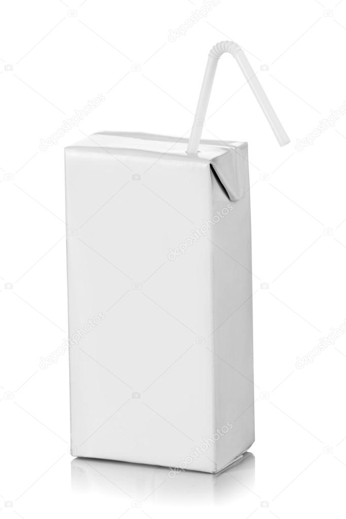 Blank pack of drink ready for your design. isolated over white background — Stock Photo #12561186