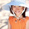 Little girl in the beach — Stock Photo