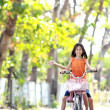 Riding bicycle — Stock Photo