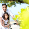 Family bicycle — Stock Photo