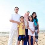 Happy muslim family — Stock Photo #12692235