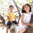 Stock Photo: Children together outdoor