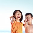 Kids having fun in sunny day — Stock Photo #12692291