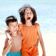 Kids having fun in sunny day — Stock Photo #12692307