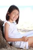 Girl reading a book — Stockfoto