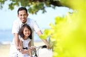 家族の自転車 — ストック写真