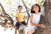Children together outdoor — Stock Photo