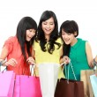 Stockfoto: Happy shopping woman