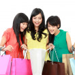 Foto de Stock  : Happy shopping woman
