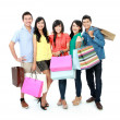 Foto Stock: Group of shopping