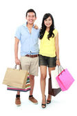 Shopping young couple — Stock Photo