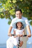Family bicycle — Stock Photo