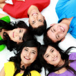 Happy group of friends smiling — Stock Photo