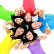 Happy group of friends smiling — Stock Photo #14101073