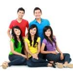 gruppo di amici di adolescente — Foto Stock