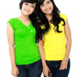 Smiling teenagers — Stockfoto