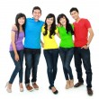 Group of five teenager — Stock Photo