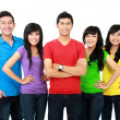 Group of smiling teenager — Stock Photo #14102491