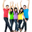 Group of smiling teenagers — Stockfoto