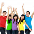 Group of smiling teenagers — Stock Photo #14102521