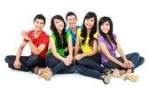 Teenager freundesgruppe — Stockfoto