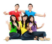 Group of young — Stock Photo