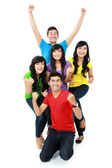 Happy young teenager together — Stock Photo