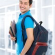 College student in campus — Stock Photo