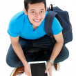 Stock Photo: Student with tablet pc