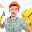 Builder working — Stock Photo