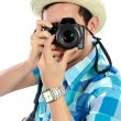 Man with camera — Stock Photo #14276233