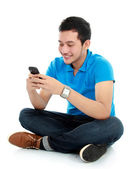 Man texting message — Stock Photo