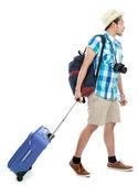 Tourist man walking — Stock Photo