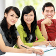 Group of students studying together — Stock Photo