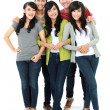 Group of smiling friends — Stockfoto