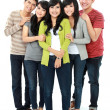 Stock Photo: Group of asian friend
