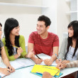 Stock Photo: Group of students discuss
