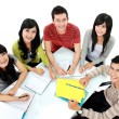 Stock Photo: Group of students studying