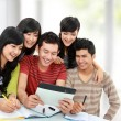Stock Photo: Friendly group of students