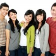 Group of smiling friends — Stock Photo #14499009