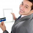 Online shop with tablet — Stock Photo